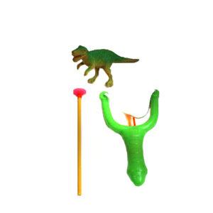 Рогатка с динозавром