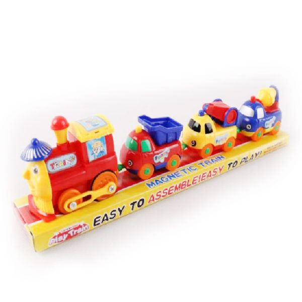 Поезд магнитный на батарейках
