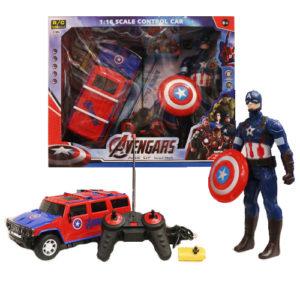 Капитан Америка и джип на пульте