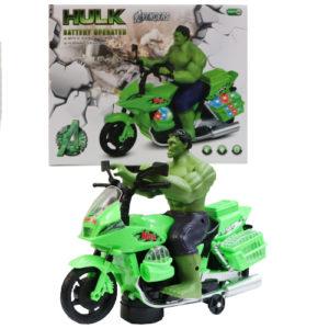 Халк с мотоциклом