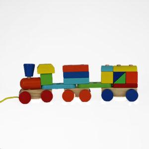 Деревянный конструктор паровозик