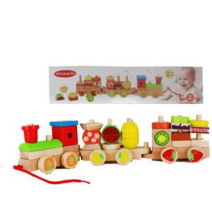 Деревянный конструктор поезд