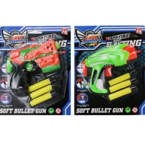 Пистолет с мягкими пулями на блистере