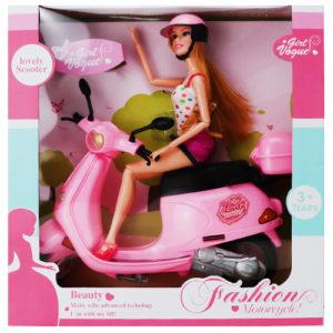 Кукла на скутере
