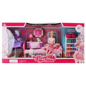 Набор кукла в спальной комнате