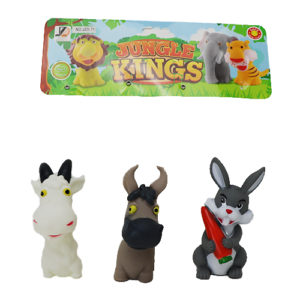 Игрушки животные пищалки 3шт