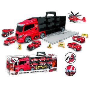 Набор автовоз пожарный с машинками